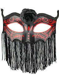 Style gothique rouge et noir de gland partie de carnaval Masque