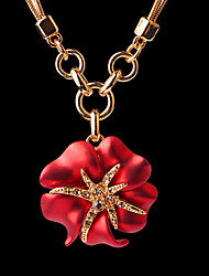 The French Idee Art Jewelry Charm Flower Temperament Necklace (Screen color)