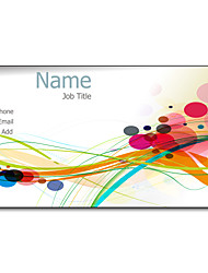200pcs Personalized 2 Sides Printed Matte Film Colorful Life Business Card