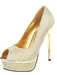 Sparkling Glitter Stiletto Heel Peep Toe Heels Shoes(More Colors)