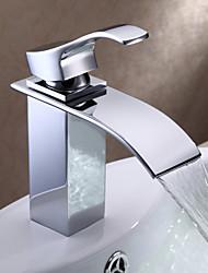 Centerset Single Handle un foro in Cromo Lavandino rubinetto del bagno