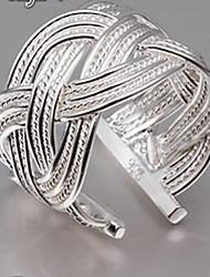 MISS U Women's Silver Open Net Weave Ring