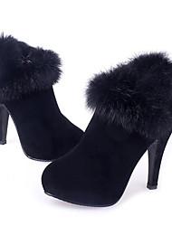 Shanhu Bont Decor High Heel Laarzen (Zwart)