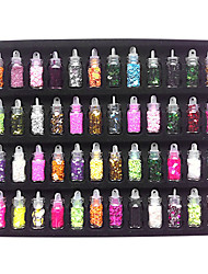 48PCS Mixed Style Glitter Nail Art Decorations for Acrylic Tips DIY Design