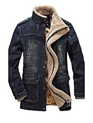 Men's Coats & Jackets , Cotton Casual/Work GUEQI