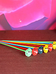 Plastic Balloon holder Sticks Wedding Party Decoration - Set of 50 (Random Color)
