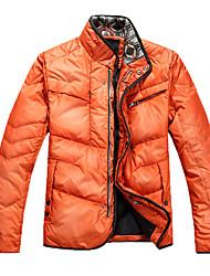 Men's Ski Down Jackets Wearable / Windproof / Thermal / Warm Blue / Dark Green / Orange Leisure Sports / Snowsports M / L / XL / XXL