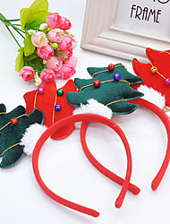 All Seasons Christmas Mixed Material Hair Accessories for Dogs Red