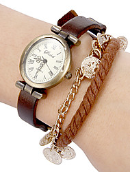 Women's Vintage Dial Pu Band Quartz Analog Bracelet Watch (Assorted Colors) Cool Watches Unique Watches