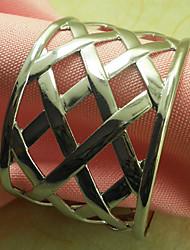 Metall-Hochzeits-Serviettenring Set von 12, Bügeleisen Dia 4,5 cm