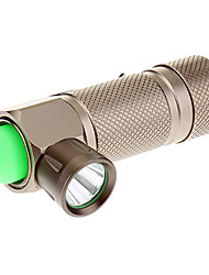 LED Flashlights/Torch / Handheld Flashlights/Torch LED 3 Mode 240 Lumens Anglehead Cree XR-E Q5 16340 Everyday Use - Trustfire , Brown