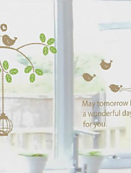 Autocollants élégants oiseaux schéma classique de la fenêtre