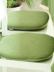 "Solid Green Chair Pad, Polyester 18""*17"""