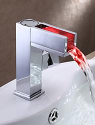 el cambio de color llevado grifo del fregadero cuarto de baño - Serie hoja