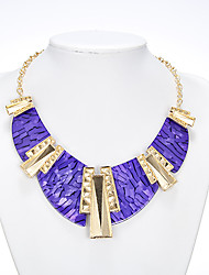 Rich Long Women's Blue Punk Necklace With Earring Suit