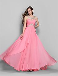 A-line/Princess Jewel Floor-length Chiffon Elegant Evening/Prom Dress