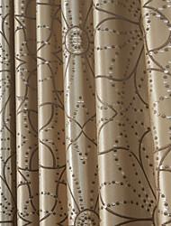 (dois painéis) rococó cortina paisely bolinhas jacquard de poupança de energia