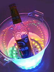 "LED Shinning Ice Bucket, Plastic 8.5""*6""*9"""
