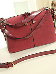 Senran Post Obblique Shoulder Pu Leather Handbags(Wine)