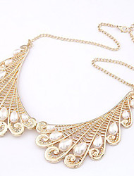 Women's Vintage Fake Collar Pearl Necklace