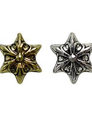 10PCS Bronze Golden&Silver Retro Chrome Hearts Nail Art Decorations(Type B,Assorted Colors)