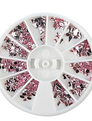 1PCS pneus Mini Mixte forme de Rose Nail Art Décoration