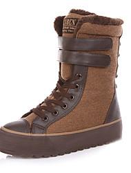 Das mulheres botas de neve