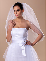 Vogue Two-tier Elbow Wedding Veil(More Colors)