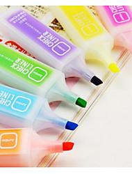 rotulador fluorescente colorido (6 piezas)