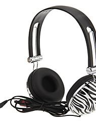 Stereo Moda Super-Bass Headphones com microfone para computador, MP3, MP4, celular