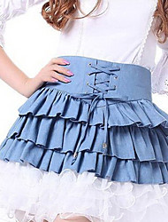 Джинсовый Классическая Лолита Жан юбка