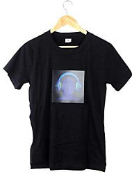Attactive Music Activated DJ Flashing Colorful Equalizer Electronic LED T-shirt