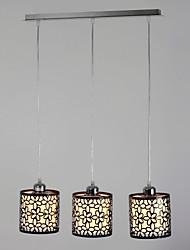 Ciondolo, 3 Light, pittura contemporanea, Metallo, Vetro