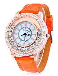 Women's Rolling Beads Case PU Band Quartz Analog Wrist Watch (Assorted Colors)