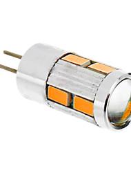 5W G4 Lâmpadas Espiga T 10 SMD 5730 480 lm Branco Quente DC 12 V
