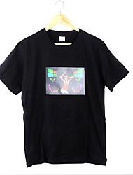 Mais Moda Música Activated Flashing T-shirt LED Equalizador colorido