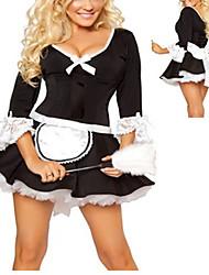 Naughty Girl Black Polyester ménage uniforme