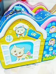 Creative Cute Blue Cat House Saving Pot