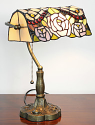 Tiffany Glass Table Lights with Shade in Roses Pattern