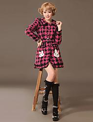 Grandes manga larga Comprueba Patrón Escudo de algodón dulce lolita