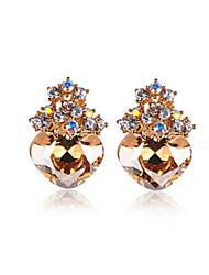 Elegante Legierungs-Gold Strass Frauen Ohrringe (weitere Farben)