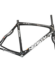 700C Full Carbon Black Road Bicycle Frame + Front Fork with NEASTY Decal