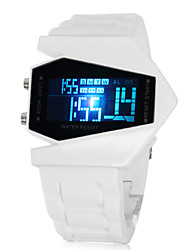 Men's Watch Sports Stealth Aircraft Style LED Silicone Strap Cool Watch Unique Watch