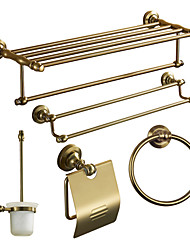 Bath Accessory Set, Antiquités 5 Piece Anodisation aluminium Set Hardware