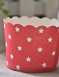 Patrón Estrella de papel de la magdalena Envolturas - Juego de 50