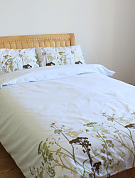 3 peças de algodão bordado tradicional Contagem 250 Tópico capa de edredão set
