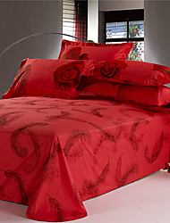 Beisibei 4Pcs Cover Set:Duvet Cover,Coverlet,Pillowcase*2_083