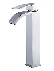 contemporain chrome un trou poignée unique lavabo robinet