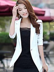 Women's Blazers & Sport Coats , Cotton Blend Casual YIERFA