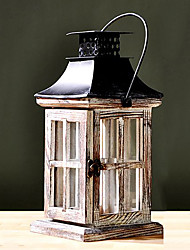 "12""Country Style House Type Lantern Candle Holder"